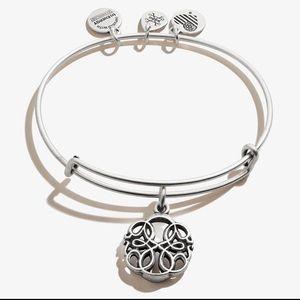 Alex & Ani Path of Life charm bangle silver